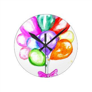 Ballons colorés gonflables horloge ronde