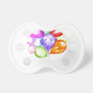 Ballons colorés gonflables tétine
