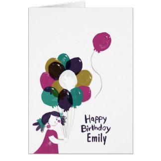 Ballons de carte de joyeux anniversaire