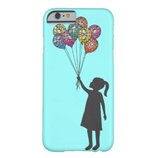Ballons de fille rêvante de flotteurs d'espoir de coque iPhone 6 barely there