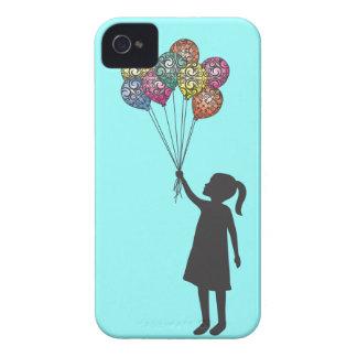 Ballons de fille rêvante de flotteurs d'espoir de coque iPhone 4 Case-Mate
