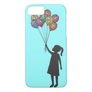 Ballons de fille rêvante de flotteurs d'espoir de coque iPhone 7