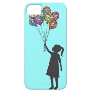 Ballons de fille rêvante de flotteurs d'espoir de étui iPhone 5
