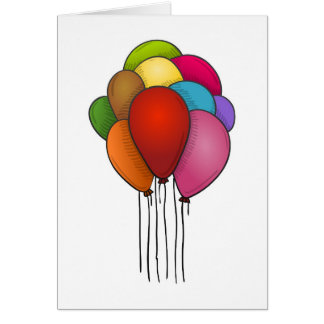 Ballons de flottement carte de vœux