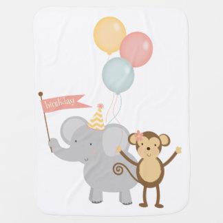 Ballons de singe d'éléphant de couverture de bébé