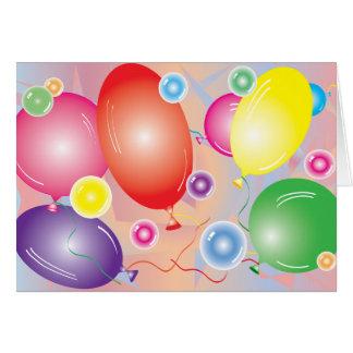 Ballons et bulles greating la carte