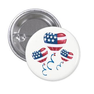 Ballons heureux de coeur du 4 juillet badges