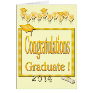 Ballons obtention du diplôme 2014 jaune de cadre