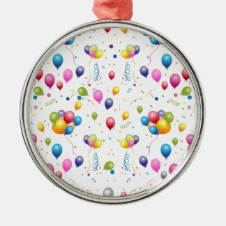 Ballons Ornement Rond Argenté