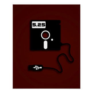 ballot à disque souple de geek d'USB de 5,25 pouce Posters