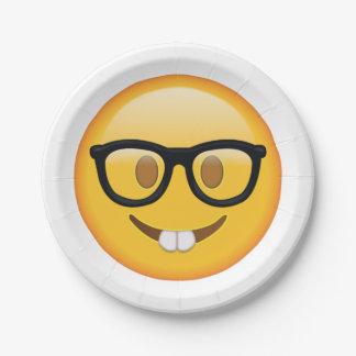 Ballot avec des verres - Emoji Assiettes En Papier