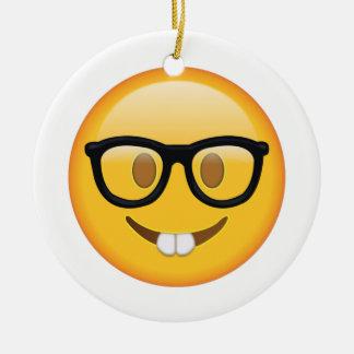 Ballot avec des verres - Emoji Ornement Rond En Céramique