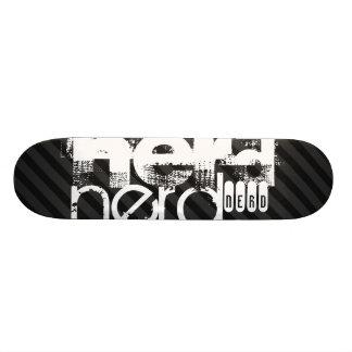 Ballot ; Rayures noires et gris-foncé Mini Skateboard 18,7 Cm