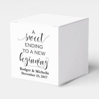 Ballotin de mariage - fin douce au nouveau début boites faveurs de mariage