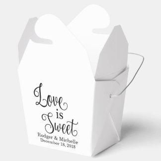 Ballotin de mariage - l'amour est doux boites faveurs de mariage