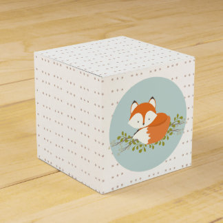 Ballotin doux de bébé de Fox de région boisée Boites Faveurs De Mariage