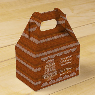 Ballotin en bois de mariage de Faux rustique Boites De Faveur
