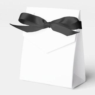 Ballotin fait sur commande de tente (ruban noir) boite faveurs de mariage