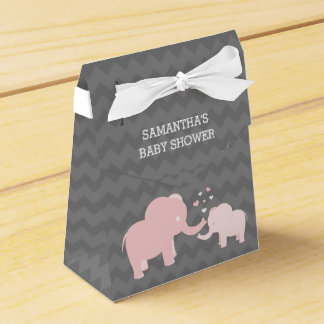 Ballotin gris de tente de rose de baby shower boites faveurs de mariage