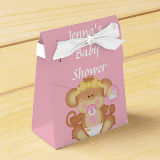 Ballotin rose de douche de souris de bébé boite de faveur