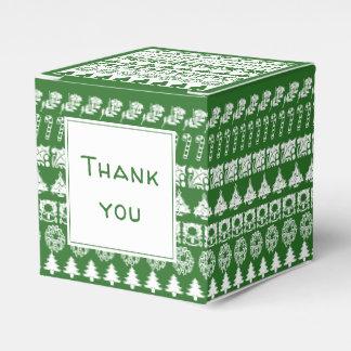 Ballotins Amusement blanc/vert de Merci de Noël d'image de