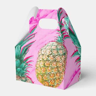 Ballotins Ananas tropicaux et coloré moderne de marbre rose
