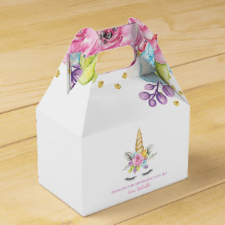 Ballotins Anniversaire floral de licorne d'aquarelle