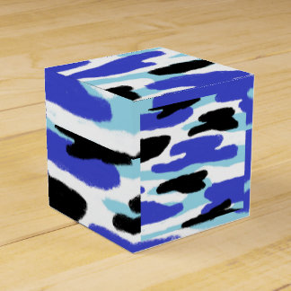 Ballotins Bleu de camouflage, noir et blanc
