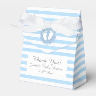 Ballotins Bleu et blanc barre la boîte de cadeau de baby