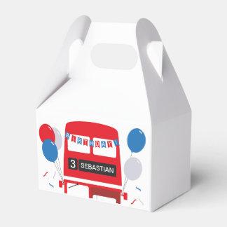 Ballotins Boîte de faveur personnalisée par autobus rouge de
