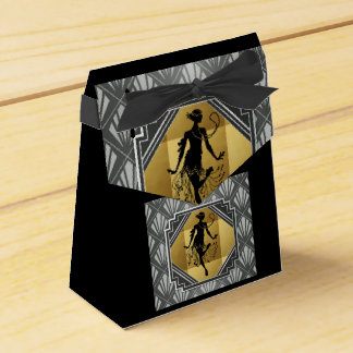 Ballotins Boîte de partie de tente de Gatsby d'art déco