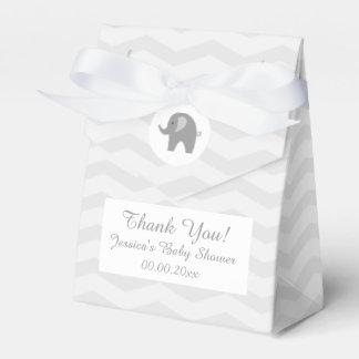 Ballotins Boîte grise de cadeau de baby shower d'éléphant de