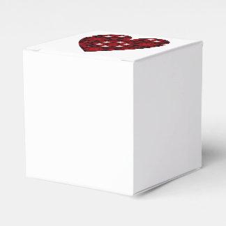 Ballotins Coeur rouge-foncé de kaléidoscope avec les étoiles