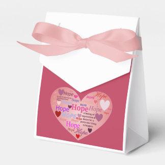 Ballotins Espoir dans une boîte-cadeau de coeur