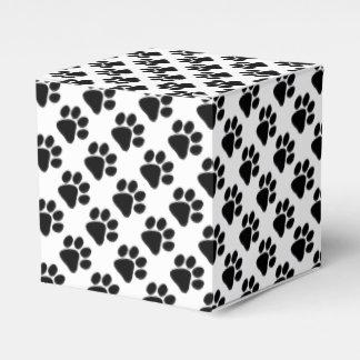 Ballotins Faveur/boîte-cadeau - empreintes de pattes de