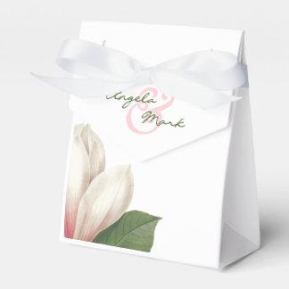 Ballotins Fleur de magnolia du sud épousant | rose et blanc