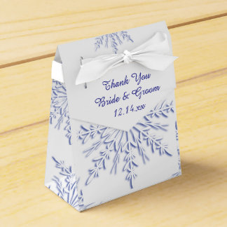 Ballotins Flocons de neige bleus sur le mariage blanc