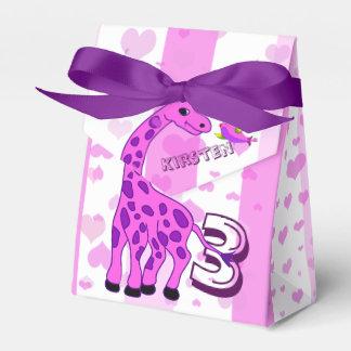 Ballotins Illustration de girafe dans la couleur rose