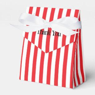 Ballotins Le cirque rouge et blanc barre des boîtes de