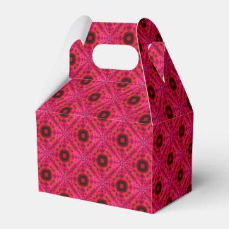 Ballotins Motif abstrait géométrique rouge et noir