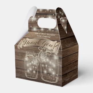 Ballotins Pots de maçon rustiques personnalisés par boîte de