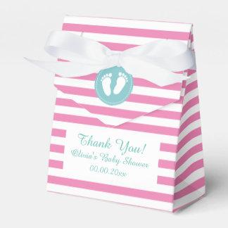 Ballotins Rose et blanc barre la boîte de cadeau de baby