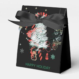 Ballotins Tout noir blanc vert rouge de vacances de Noël
