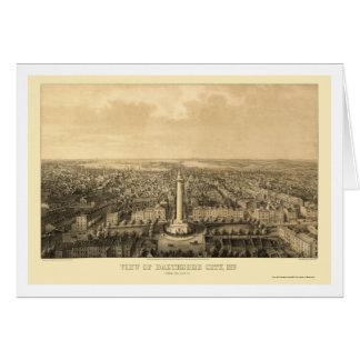 Baltimore, carte panoramique de DM - 1862