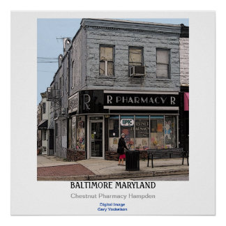 Baltimore le Maryland Poster