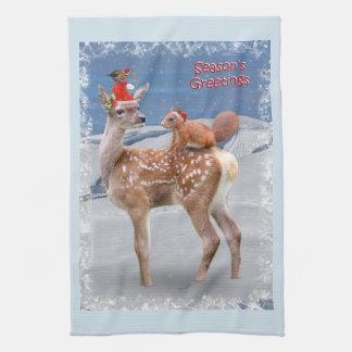 Bambi et serviette de cuisine d'amis