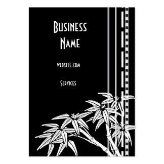 Bambou asiatique blanc noir de carte de visite