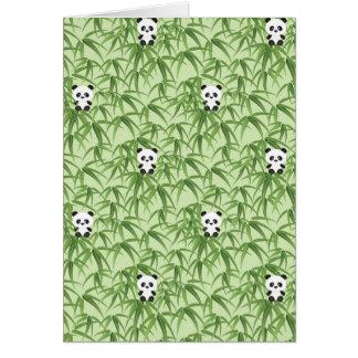 Bambou avec des pandas cartes