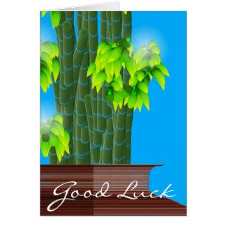 Bambou chanceux, bonne chance carte de vœux