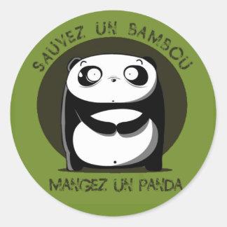 Bambou de l'ONU de Sauvez Sticker Rond